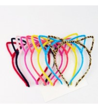 Stylish Women Girls Furry Cat Ears Headband Devil