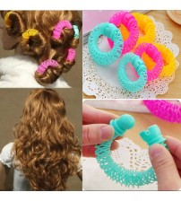 8pcs Girls Curler Hair Curlers Elastic