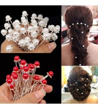 20Pcs Fashion Crystal Pearl Hair Pins