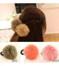 Soft Fake Rabbit Fur Elastic Hair Rope