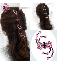 6Pcs Girls Crystal Snowflake Hair Clips