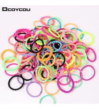 60PCS Hair Accessories Colorful Rubber Headband