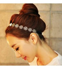 Rose Flower Elastic Hair Head Band