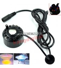 12 LED Ultrasonic Water Atomizer Air Humidifier