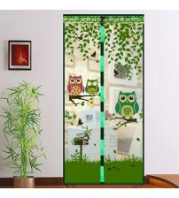 Curtain, Anti Mosquito Magnet Owl Motif Magnetic Door Curtain Insect Protection Net, 90x210cm(90210cm,Purple)