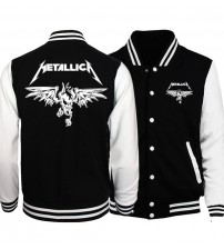2018 Spring Hot Sale Rock Band Metallica Jacket Men Coat Fashion Baseball Jackets Hoodies Outwear Plus Size Hipster Men Overcoat