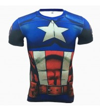 2019 New 3D Printed T-Shirt Captain America Men Compression T Shirt Men Superhero Marvel Funny Fitness Tops & Tees Clothing