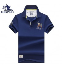 Embroidery Polo Shirts Men Business Short Sleeve Stand Collar Tops&Tees Polo Shirt