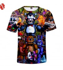 Five Nights at Freddy 3D Printed T-shirts Women/Men/Children Fashion Summer
