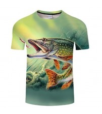 men&women tshirts Hip hop 3D T-shirt Harajuku Fishing tees&tops Asian size s-6xl