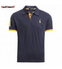 Casual Mens Shirts Camisa Polo Giraffe Soft Feel Quality Mens Polos