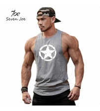 Fitness shirt mens singlet Bodybuilding workout gym vest fitness men