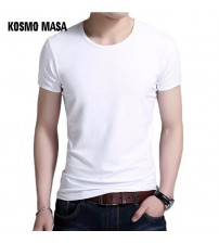 O-neck Solid Short Summer Casual Men T-shirt White Funny Print Tshirt Men Plus Size MC0347