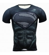 Compression Shirt Men Anime Superhero Punisher Skull Captain Americ 3D