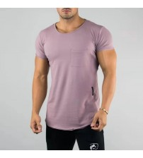 2019 New ALPHALETE Men Running T-shirts Gyms Tight Fitness Mens Short Sleeve T-shirts Tops Man Spring Streetwear O-Neck Tees