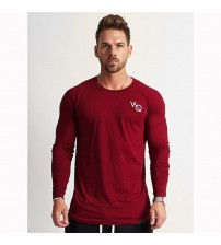 2019 Trendy Autumn Boutique Men T Shirt Casual New Long Sleeve Slim Fit Men's Basic Tops&Tees O Collar Male Clothing