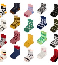 1 pair Men Women Socks Cotton Crew Lovers Socks Funny Animal Cartoon Casual Colorful Dots in tube Sock A-G
