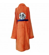 Anime Dragon Ball Flannel Bathrobe Son Goku Cosplay Costume Autumn Winter Solid Plush Thick Warm Long Bath Robe Dressing Gown