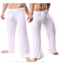 Brand Man Long Pant Sleepwear Comfy Breathable Slip Mans Sleep Bottoms Men's Casual Trousers Homewear See Through Pajama Pants