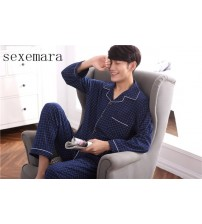 2019sexemara brand new arrival fashion men sleeping cloth 100% cotton comfortable men pajamas red plaid free shipping 4 size
