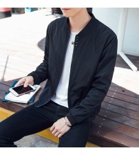 2019 Spring and Summer Summer New Jacket Men's Casual Thin Section Slim Fashion Comfortable Solid Color Men's Casual Trend Coat
