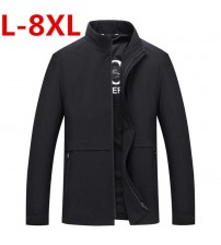 2019 plus size 8XL 7XL 6XL 5XL 4XL  New Arrival Men's Fashion Casual Spring Autumn Jacket Cotton Stand Collar Coat