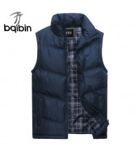 2019 New Brand Mens Jacket Sleeveless Vest Winter Fashion Casual Coats Male Cotton-Padded Men's Vest Men Thicken Waistcoat 3XL