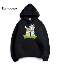 2017 Autumn hip hop Hoodies Men Fashion Cool Rick Morty Brand Pullover printing Turtleneck Sportswear Sweatshirt Tracksuits