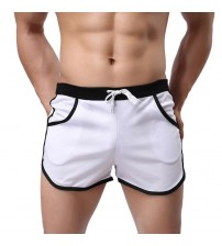 Men Swimming Trunks Color Block Summer Sports Gym Drawstring Shorts Beach Shorts Swimming Trunks