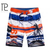 2018 new summer men cotton beach shorts Breathable Elastic Boardshort fashion Print shorts homme L-3XL AXP31