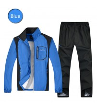 Spring  Autumn Men Sports Suit Tracksuit Sportswear Sweater Suit Youth Slim Long-sleeved Running Clothes Plus Size L-5XL