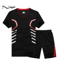 2018 T-Shirt Sets Summer Hot Sale Casual Branded Tracksuits Short Sleeve Men Set 2 Pieces M-9xl Fitness Clothing Sweat Suits