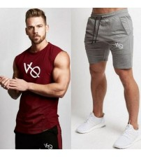 2018 New Fashion Summer Short Sets Men Casual Vanquish Printing Suits For Men Chinese Style Suit Sets Tank Tops and Shorts
