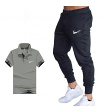 Summer Hot Men's Sets Classic with polo+ sweatpants Two Pieces Sets Casual Tracksuit Male 2019 Casual polo men Jersey trousers