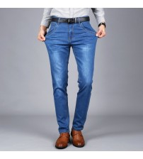 2019 High-quality Full Length Jeans Men Fashion Long Trousers Straight Jeans Males Causal Pants