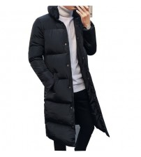 2018 New arrival winter long jacket cotton thick male high quality Casual fashion parkas cotton coat men brand clothing MY30