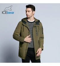 ICEbear 2019 new spring men's jacket short casual coat overcoat hooded man jackets high quality fabric men's cotton MWC18228D