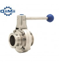 "1"" /1-1/2"" /2"" SS304 Stainless Steel Sanitary 1""/1.5""/2 Tri Clamp Butterfly Flow control Valve Homebrew Beer  Dairy Product"