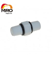 "1/4"" 3/8 1/2 BSP Male Thread Nipple Joint Connection Fittings with Sealing Washer High Quality Plastic Connector ST050A"