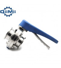 "1"" /1-1/2"" /2"" Stainless Steel Sanitary 1""/1.5""/2 Tri Clamp Butterfly Valve Squeeze Trigger for Homebrew Dairy Product"