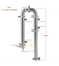 "1.5"" OD50.5mm  Reflux tower, Distiller , Column for distillation, Sanitary Steel 304"