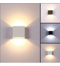 Indoor  6W dimmable LED Wall Lamps AC100V/220V Aluminum Decorate Wall Sconce bedroom LED Wall Light  warm white / cold white