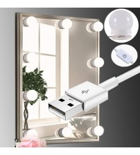 LED Makeup Mirror Light Bulb Hollywood Vanity Lights Stepless Dimmable Wall Lamp 6 8 10 Bulbs Kit for Dressing Table