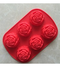 1 PCS Big Rose Shape Silicone Mold For Baking Bakeware Silicone Form Mold For Chocolate Candy Mousse Cake Moulds