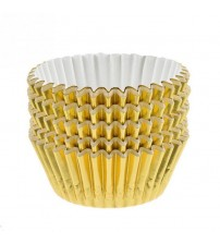 100pcs/lot Paper Cake Cup Cupcake Cases Liners Muffin Kitchen Baking Wedding Party Gold