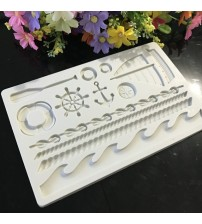 1 piece Boat ship's anchor silicone mold fondant mold cake decorating tools chocolate gumpaste mold H634