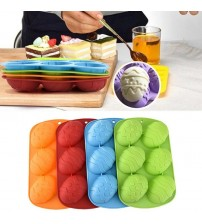 6 Cavity Easter Egg Shaped Bakeware Mould Dessert Silicone Cake Baking Tools DIY Easter Chocolate Mold Cake Decorating Tools