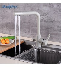 360 Swivel Beige brass Kitchen Faucets Deck Mounted Mixer Tap Water filter Mixer Tap Crane For Kitchen