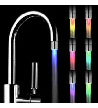 Romantic 7 Color Change LED Light Shower Head Water Bath Home Bathroom Glow