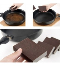100*70*25MM 2pcs Brown Carborundum Melamine Eraser Magic Sponge Diy Cleaning Sponge Dishwashing Kitchen Bathroom Accessory Items